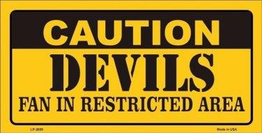 Caution Devils Vanity Metal Novelty License Plate