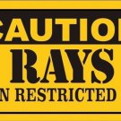 Caution Rays Vanity Metal Novelty License Plate