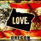 Oregon Love Novelty Metal License Plate