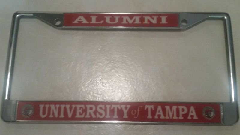 University Of Tampa Alumni On Red License Plate Frame