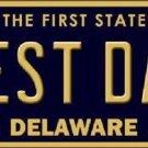 Best Dad Delaware Novelty Metal License Plate
