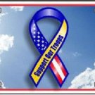 Support Our Troops Vanity Metal Novelty License Plate