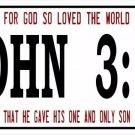 John 3:16 Photo License Plate