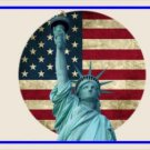 Statue Of Liberty With United States Flag Photo License Plate
