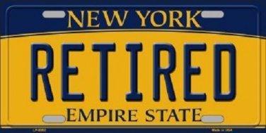 Retired New York Background Novelty Metal License Plate