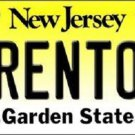 Trenton New Jersey Background Novelty Metal License Plate