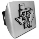 Texas Tech (TX shape Debossed) Brushed Hitch Cover