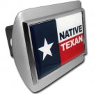 Texas Native Flag ALL METAL Brushed Hitch Cover