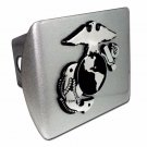 Marine (Insignia) ALL METAL Brushed Chrome Hitch Cover