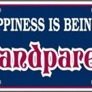 Happiness Is Being A Grandparent Vanity Metal Novelty License Plate
