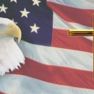 American Flag with Eagle and Cross License Plate