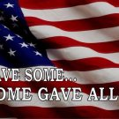 All Gave Some Battlefield Cross U.S. Flag Photo License Plate