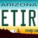 Arizona Retired Novelty Metal License Plate
