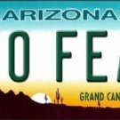 No Fear Arizona Novelty Metal License Plate