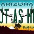 Hot As Hell Arizona Novelty Metal License Plate