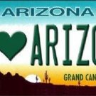 I Love Arizona Novelty Metal Novelty License Plate