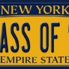 Class of '17 New York Background Novelty Metal License Plate
