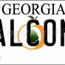 Falcons Georgia State Background Novelty Metal License Plate