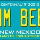 MMM Beer New Mexico Novelty Metal License Plate