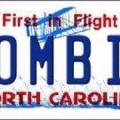 Zombie North Carolina Novelty Metal License Plate
