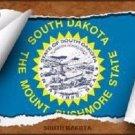 South Dakota Flag Scroll Novelty Metal License Plate