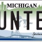 Hunter Michigan State Metal Novelty License Plate