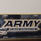 Army Black Knights with Sword in Gold On Black Embossed License Plate