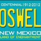 Roswell New Mexico Teal Novelty Metal License Plate