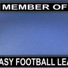Member Of Fantasy Football League Photo License Plate Frame