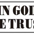 In God We Trust Vanity Metal Novelty License Plate