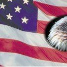 American Flag with Eagle Offset License Plate