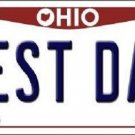 Best Dad Ohio Background Novelty Metal License Plate