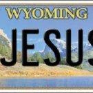 Jesus Wyoming Metal Novelty License Plate