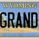 Grandma Wyoming Metal Novelty License Plate