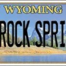 Rock Springs Wyoming Metal Novelty License Plate