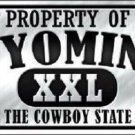 Property Of Wyoming Novelty Metal License Plate