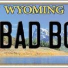 Bad Boy Wyoming Metal Novelty License Plate