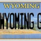 Wyoming Girl Metal Novelty License Plate