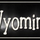Wyoming Flag Script Novelty Metal License Plate