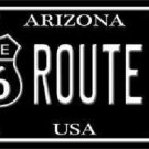 Route 66 Arizona Metal Black Novelty License Plate