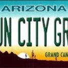 Sun City Grand Arizona Novelty Metal License Plate