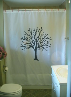 Bath Shower Curtain tree bud spring is in the air branch