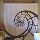Bath Shower Curtain spiral staircase curve bend pattern curl