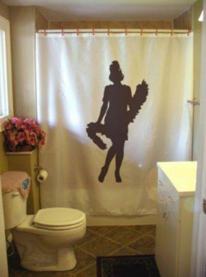Bath Shower Curtain roaring twenties Charleston flapper boa