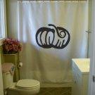Bath Shower Curtain pumpkin carve Halloween harvest
