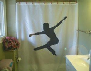 Bath Shower Curtain male ballet dancer jump dance man guy