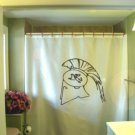 Bath Shower Curtain greek helmet crest ancient Sparta Greece