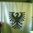 Bath Shower Curtain eagle heraldry spread wings Medieval