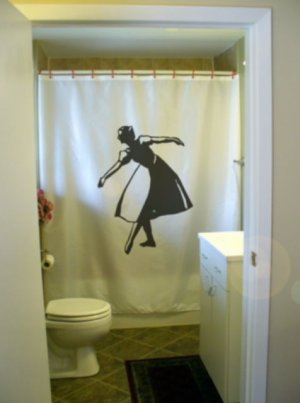 Bath Shower Curtain curtsy country dance curtsey respect bow