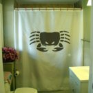 Bath Shower Curtain crab angry mean crustacean shell claw